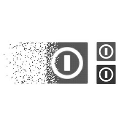 Disappearing pixel halftone switch icon vector