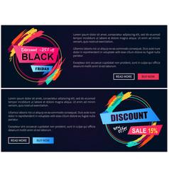 discount black friday -15 vector image