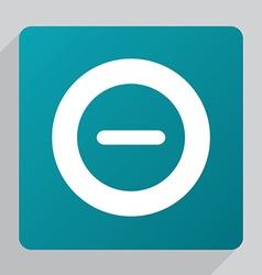 flat minus icon vector image