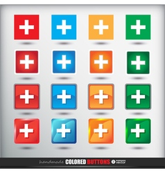 Four sets of four positions of square Colored vector image