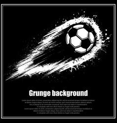 grunge black soccer background vector image