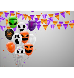 Halloween carnival background orange purple vector