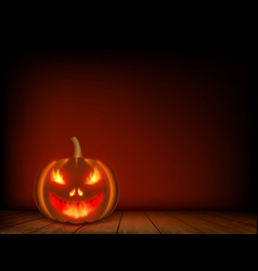 halloween pumpkin on a wooden table vector image