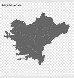 High quality map is a region turkey vector