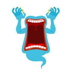 Hungry ghost scary spook horrible ghost vector