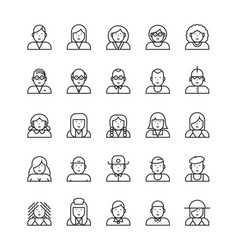 icon people vector image