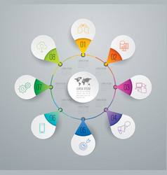 infographics design with 8 options vector image