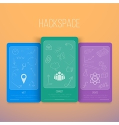 Infographics hackspace flyer with hand draw vector