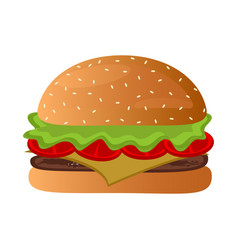 isolated burger icon vector image vector image