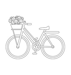 isolated cute bicycle vector image