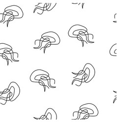 jellyfish pattern seamless vector image