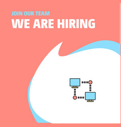 join our team busienss company computer networks vector image