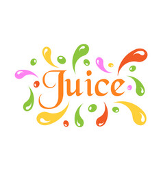 Juice splash spray icon in flat style juice drink vector