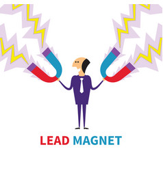 Lead magnet concept in flat style vector