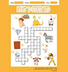 Letter d crossword template vector