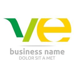 letter v e alphabet element icon vector image