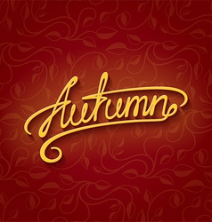 lettering Autumn vector image