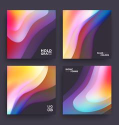 Modern covers template design fluid colors set vector