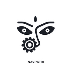 Navratri isolated icon simple element from india vector