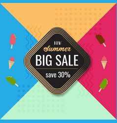 new summer big sale colorful background template vector image