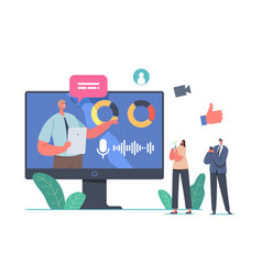 Online business presentation characters vector