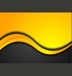orange and black abstract background with glossy vector image