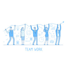outsourcing team business man woman team vector image