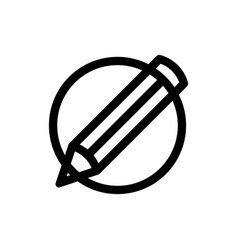 pencil in circle icon logo template design vector image