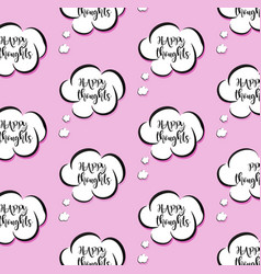 Pink though clouds woman bubble vector