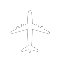 plane with line art style vector image