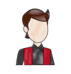 portrait man young character person avatar vector image