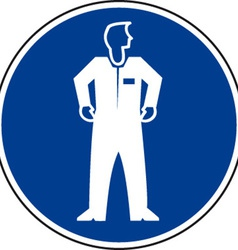 Protective Clothing Must Be Worn Safety Sign vector image