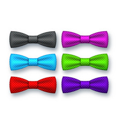 Realistic bow tie collection vector