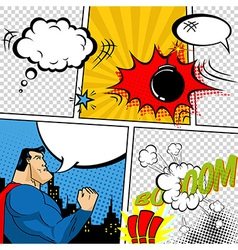 Retro Comic Book Speech Bubbles vector image