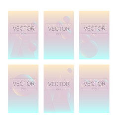 screen gradient set with abstract background vector image
