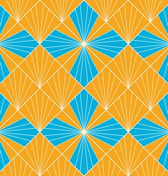 Seamless abstract fan pattern background vector image