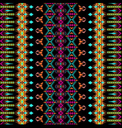 Seamless texture tribal geometric striped pattern vector