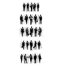 several groups businessmen vector image