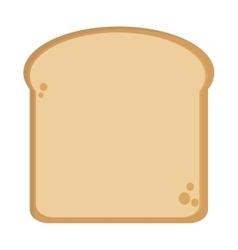 single bread slice icon vector image