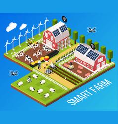 Smart farm concept vector