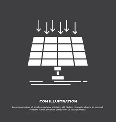 solar panel energy technology smart city icon vector image