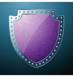 steel shield vector image
