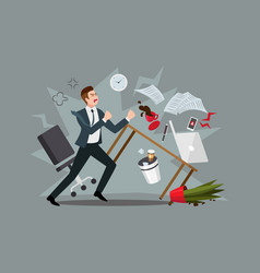 stress at workplace furious businessman vector image