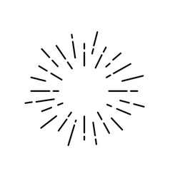 Sun rays are black silhouette vector
