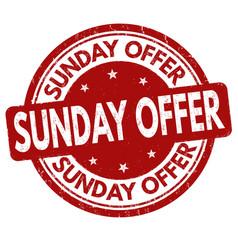 sunday offer sign or stamp vector image