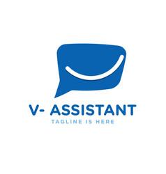 Talk virtual assistant logo vector