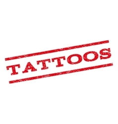 Tattoos Watermark Stamp vector image