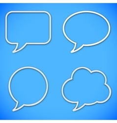 Thin Line Speech Bubbles vector
