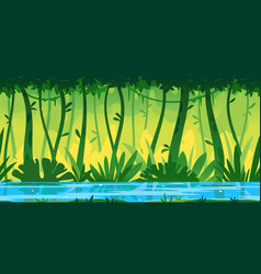 tropical river nature game background vector image