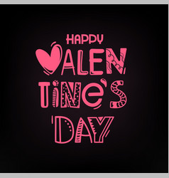 valentines day party greeting card logo vector image